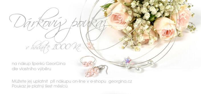 Dárkový poukaz na šperky v hodnotě 1.000, Kč Design © Copyright Jiřina Chrtková FAST SHOTS, s.r.o.