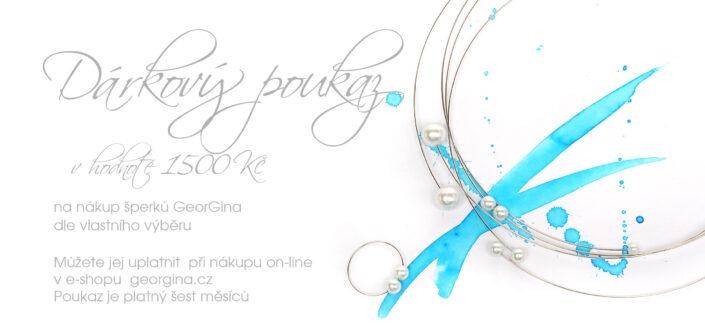 Dárkový poukaz na šperky v hodnotě 1.500, Kč Design © Copyright Jiřina Chrtková FAST SHOTS, s.r.o.
