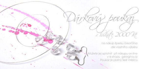 Dárkový poukaz na šperky v hodnotě 2.000, Kč Design © Copyright Jiřina Chrtková FAST SHOTS, s.r.o.