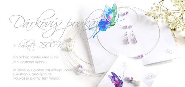 Dárkový poukaz na šperky v hodnotě 2.500, Kč Design © Copyright Jiřina Chrtková FAST SHOTS, s.r.o.