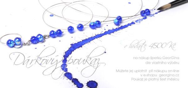 Dárkový poukaz na šperky v hodnotě 4.500, Kč Design © Copyright Jiřina Chrtková FAST SHOTS, s.r.o.