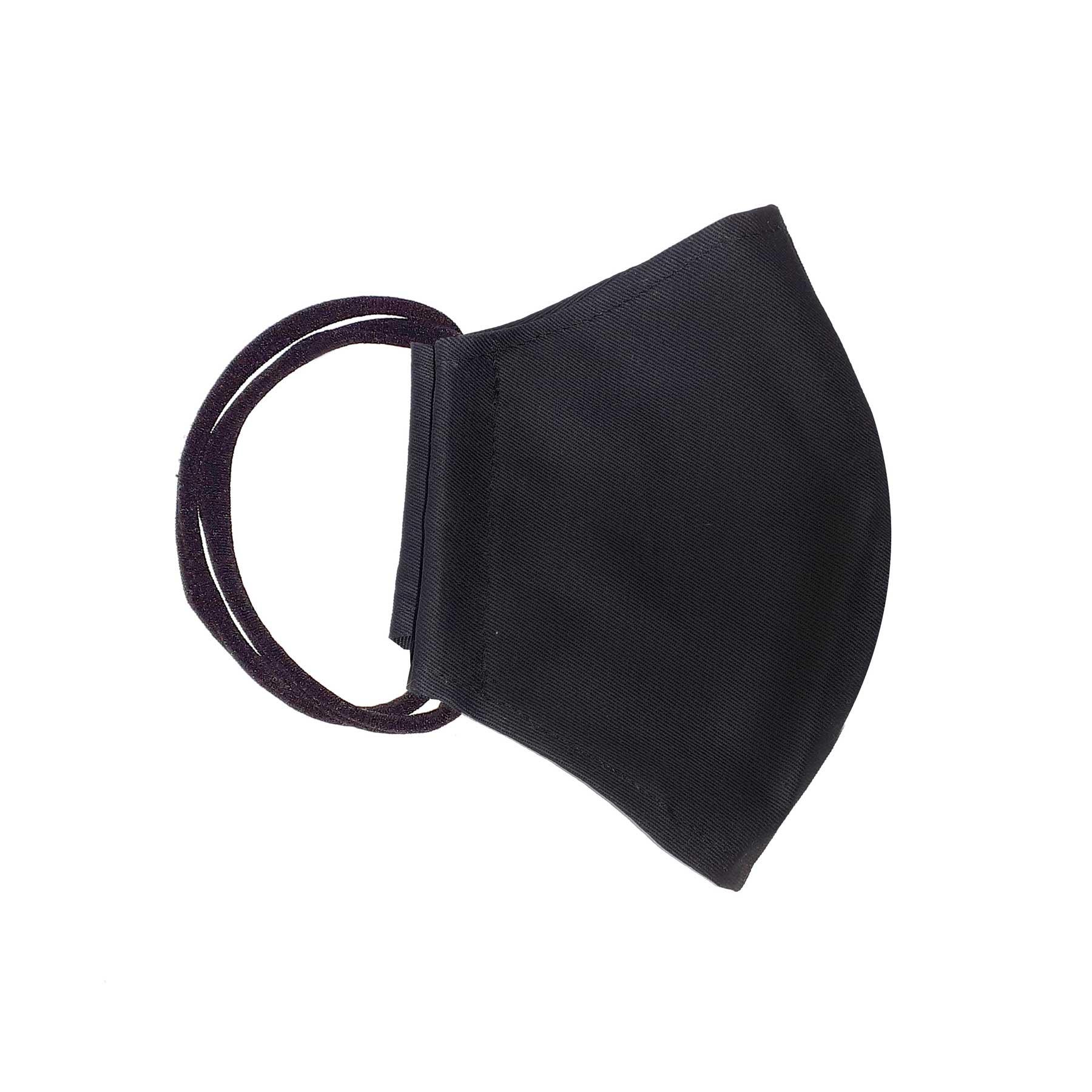 Módní bavlněné ústní roušky tvarované jednobarevné, třívrstvé s gumičkami dámské