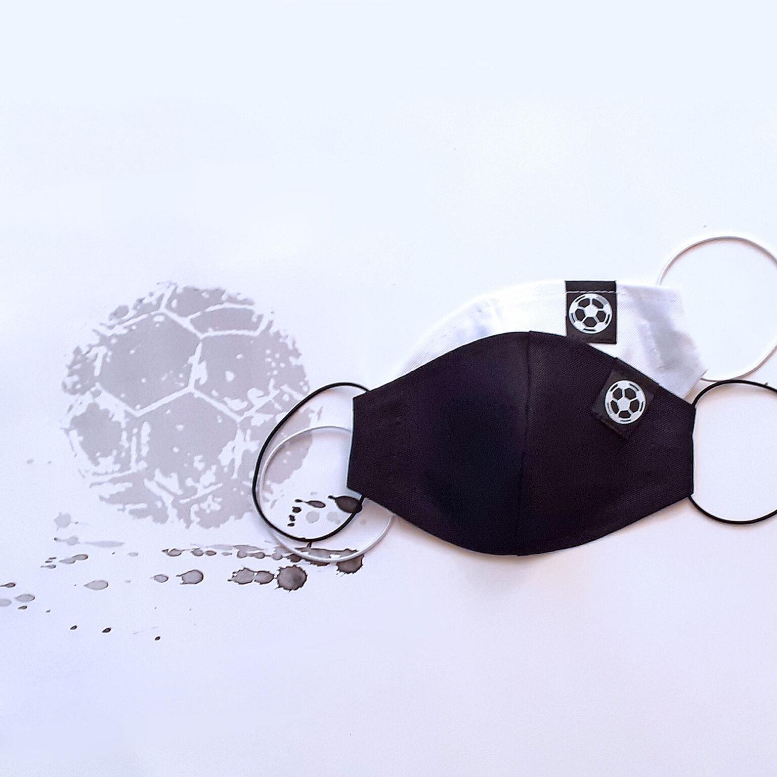 Zdobené bavlněné ústní roušky kolekce Fotbal GeorGina 2021