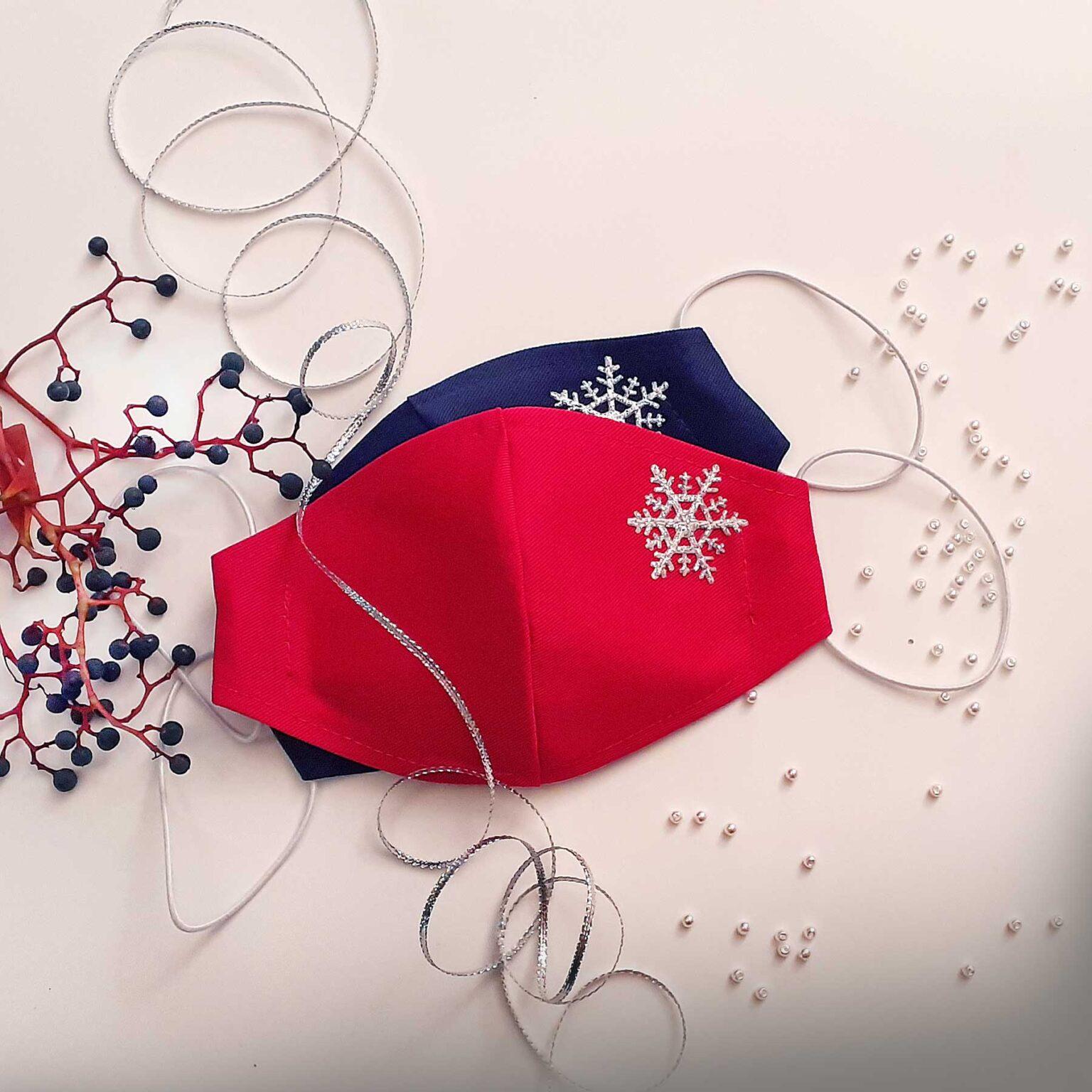 Zdobené bavlněné ústní roušky kolekce zima GeorGina 2021