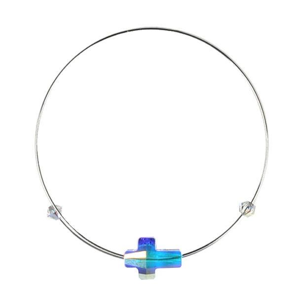 Náramek GeorGina zdobený Swarovski® crystals, cross crystal rainbow