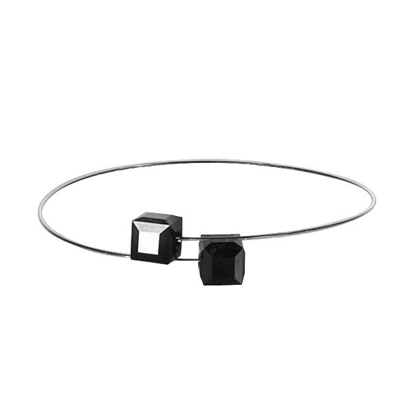 Náramek GeorGina zdobený Swarovski® crystals, cube black