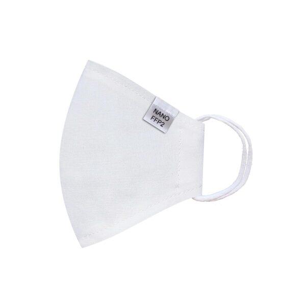 třívrstvá bílá módní rouška tvarovaná s nano filtrem a aktivním stříbrem třída FFP2