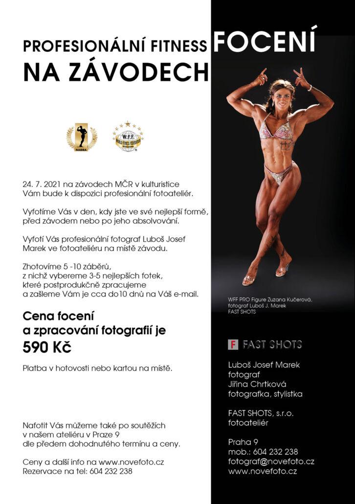 Fitness focení na mistrovství ČR v kulturistice NABBA 2021
